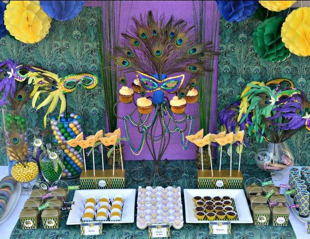 Decoracion fiesta de mascaras venecianas buscar con - Mascaras venecianas decoracion ...