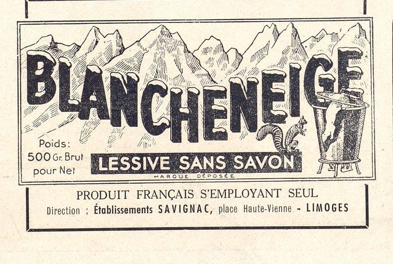 Blancheneigne Lessive Sans Savon Publicite Notre Province 1943 Bfm Limoges Lessive Limoges Savon