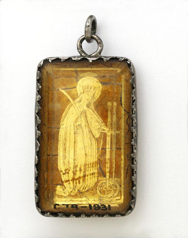 Pendant ca 1470 1480 engraved gold leaf behind rock crystal in pendant ca 1470 1480 engraved gold leaf behind rock crystal in aloadofball Images