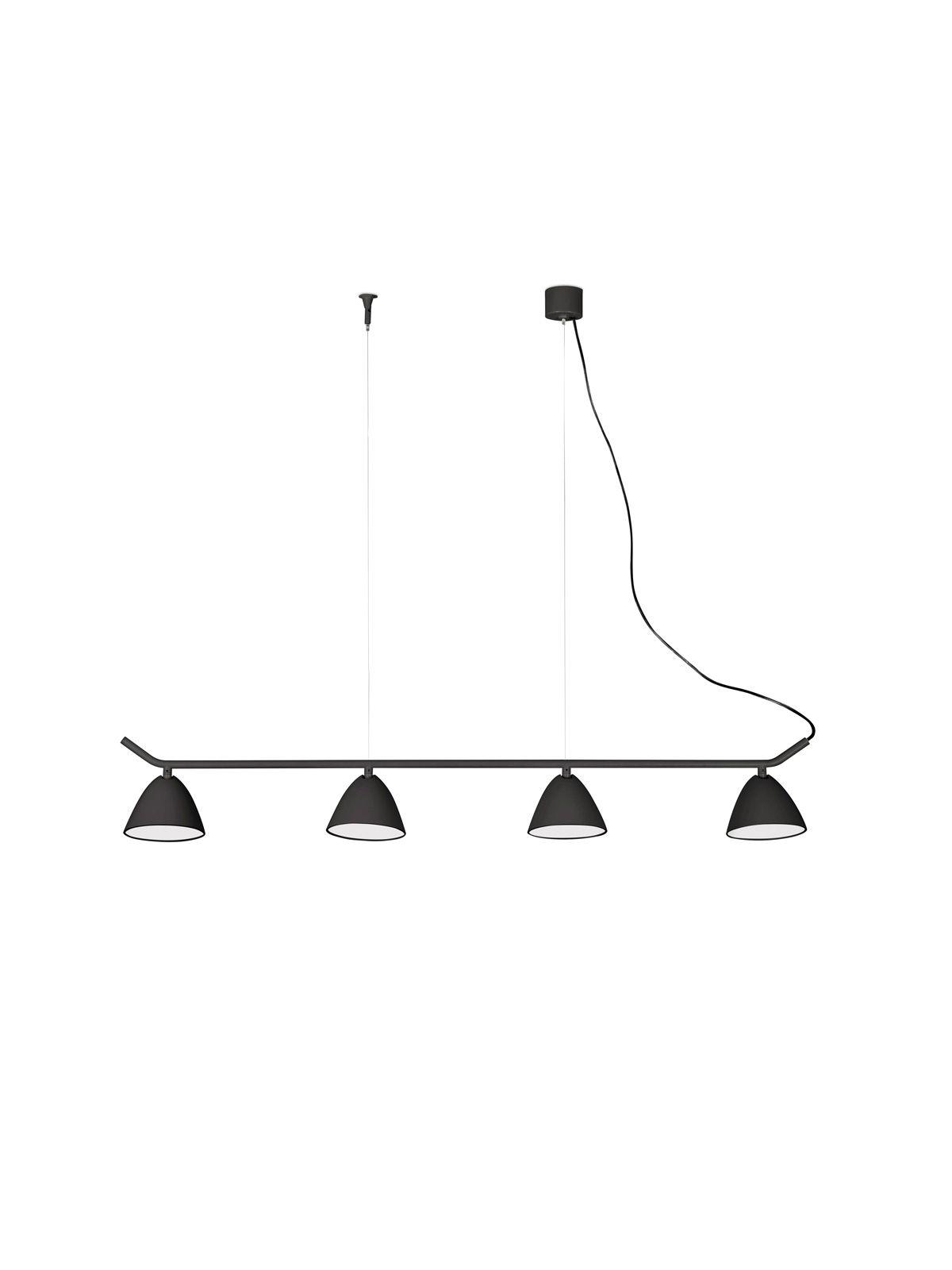 Flash rail schwarze lampen lights in black pinterest room faro barcelona flash rail vierflammige led pendel lampe in schwarz lamp lampe aloadofball Choice Image