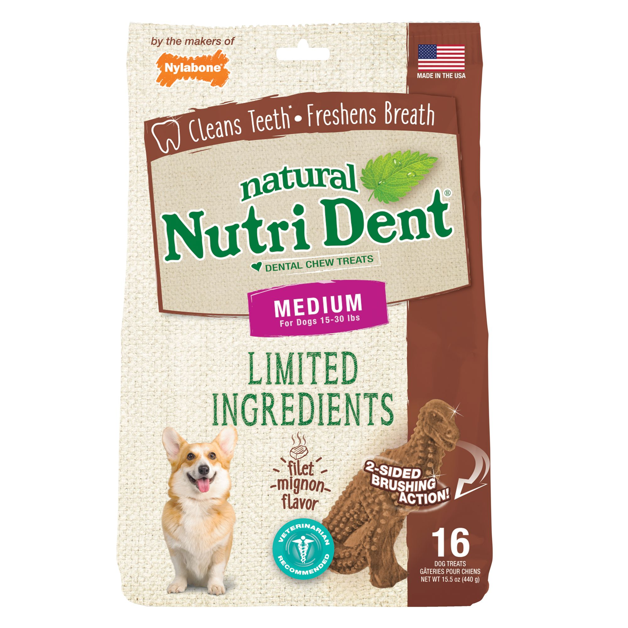 Nylabone® Nutri Dent Limited Ingredients TRex Medium Dog