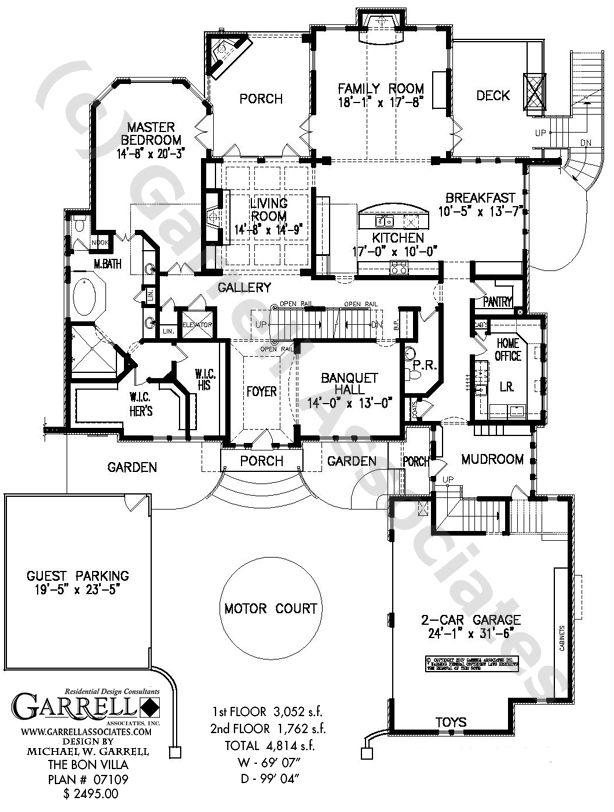 Room Floor Plan Designer Free: Bon Villa House Plan 07109,1st Floor Plan,Williamsburg