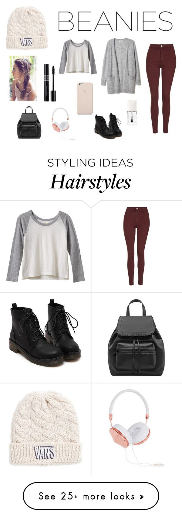 """""""Cute outfit for bad hair days!"""" by jenny-woo on Polyvore featuring Vans, Topshop, RVCA, Black Apple, Christian Dior and Frends"""
