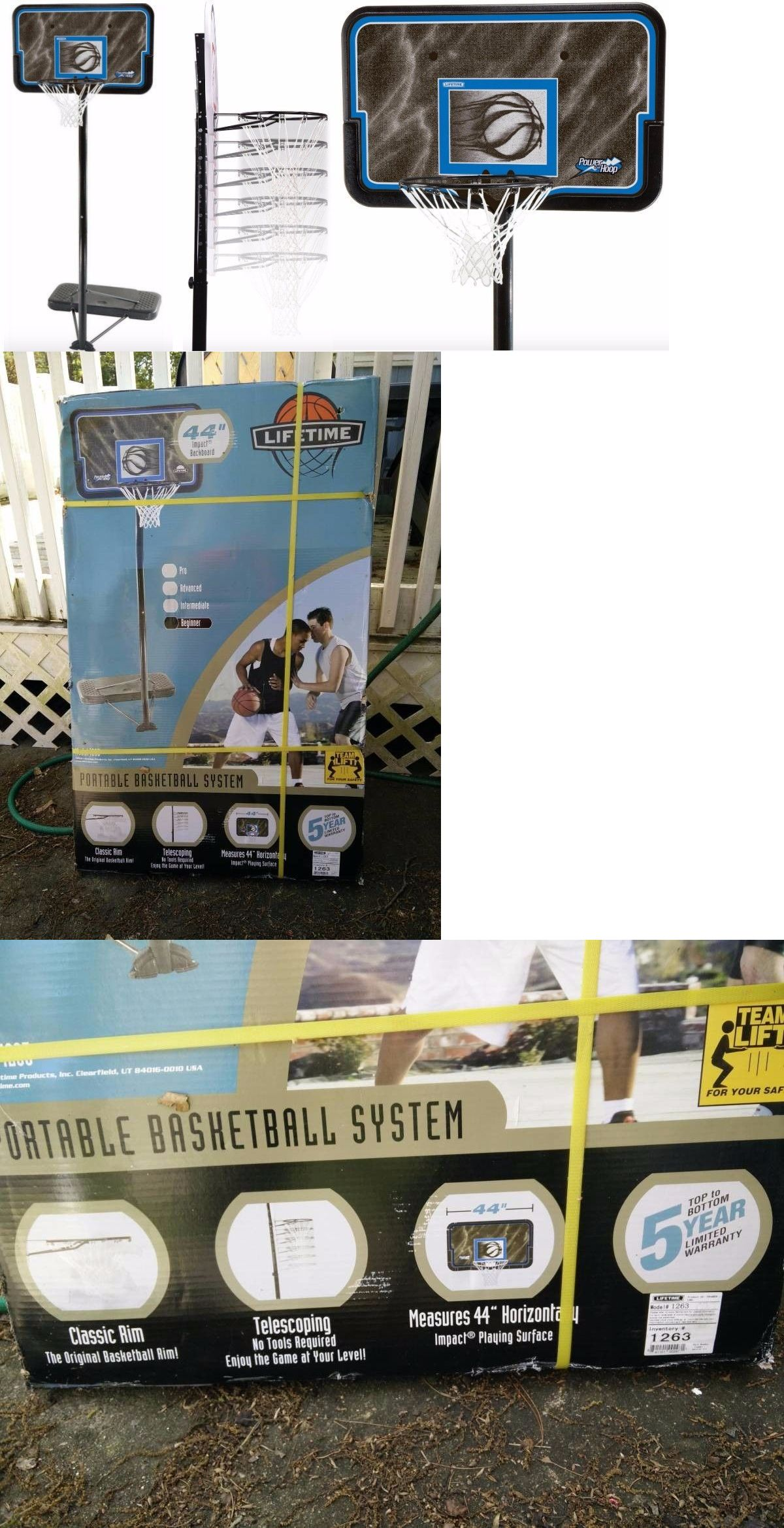 backboard systems 21196 lifetime 1263 44 pro adjustable basketball