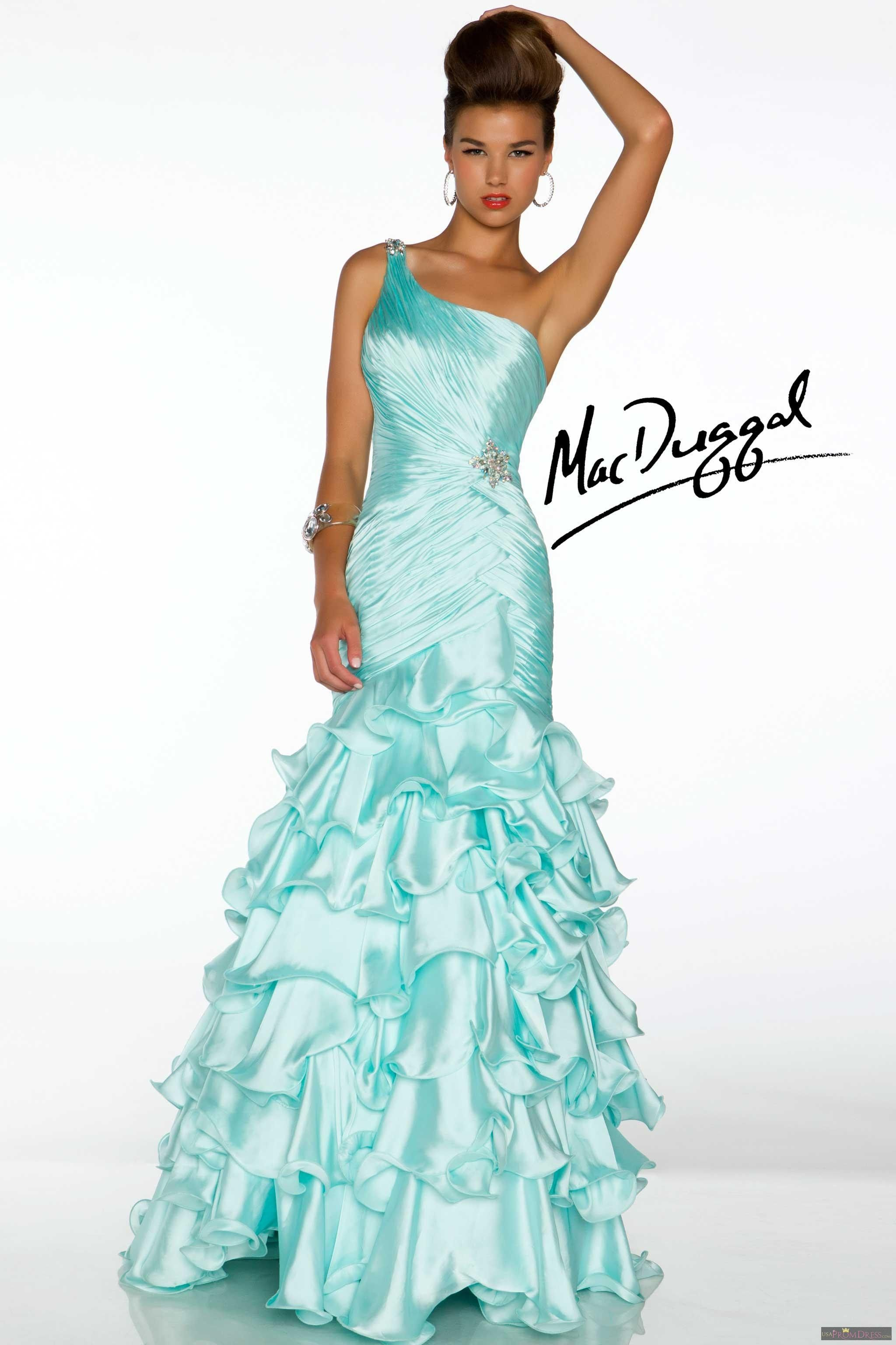 Mac Duggal Style 4835H - Heavenly feeling fabric is rouched to ...