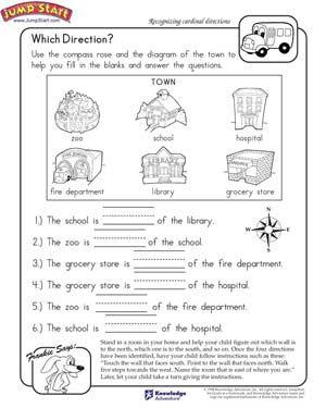 cardinal directions activities for kindergarten - Buscar con ...
