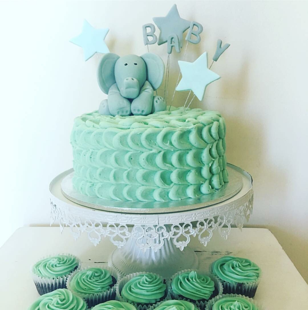 My Red Velvet And Cream Cheese Frosting Baby Shower Cake
