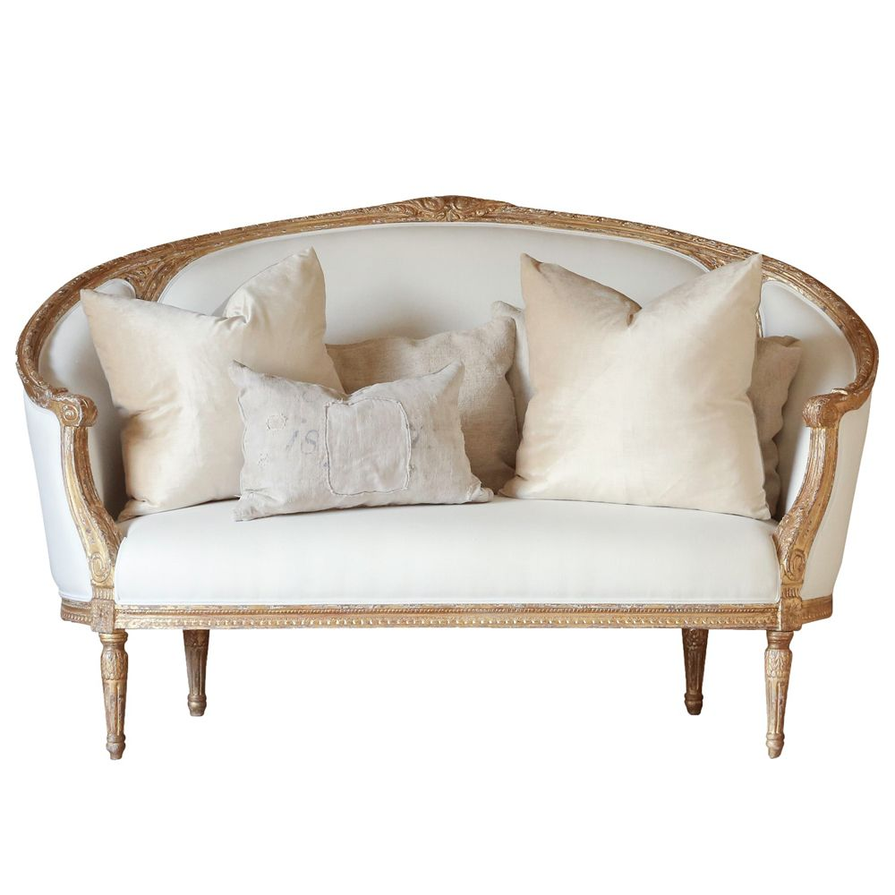 Versailles canape gold sofa belle maison french sofas for Canape in french