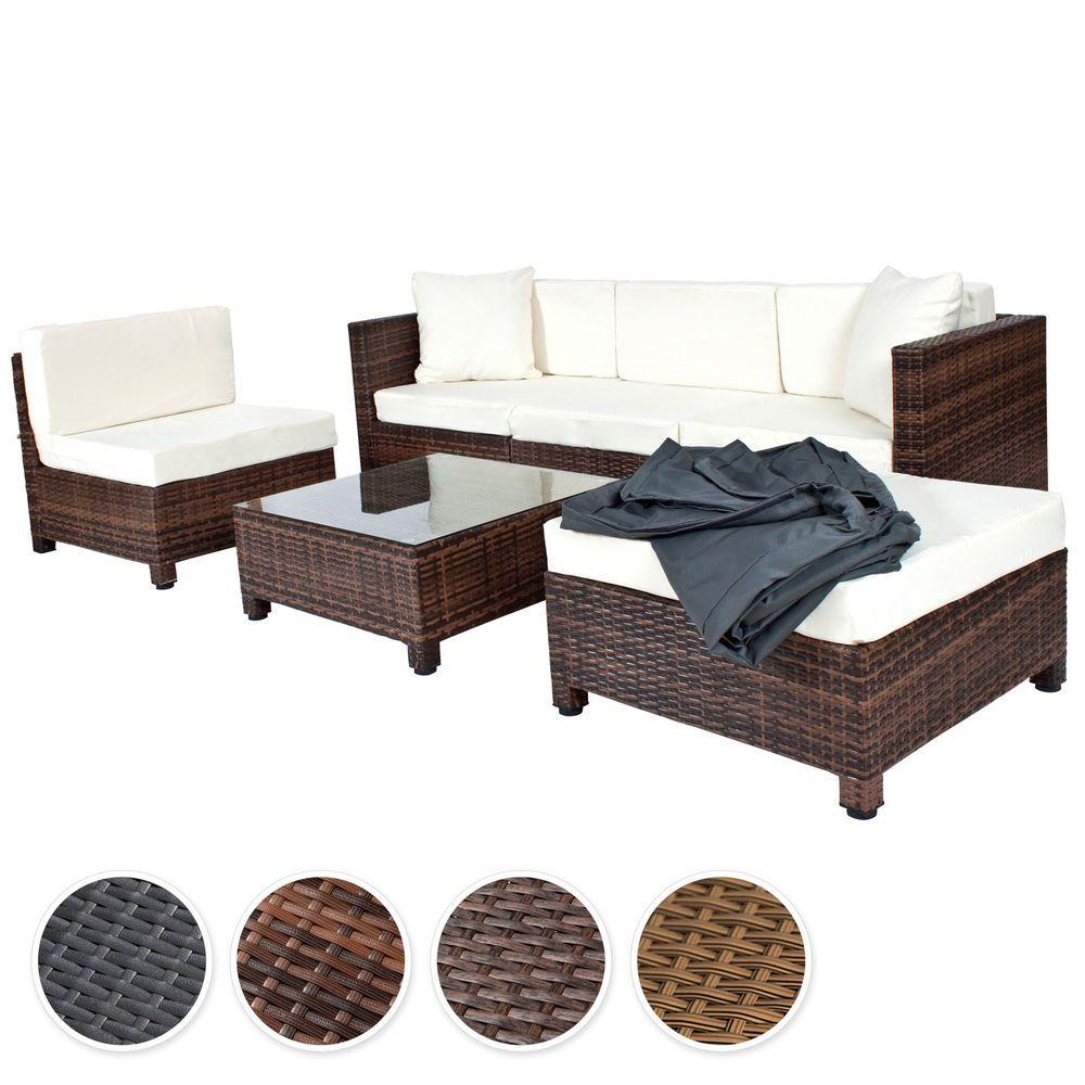 Details Zu Poly Rattan Aluminium Sofa Sitzgruppe Gartenmobel Lounge
