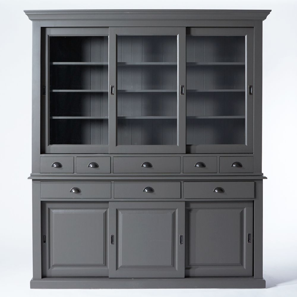 Buffet Vaisselier En Bois Massif Craftsman China Buffet Cabinets  # Meuble Vaisselier Vitre