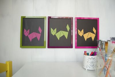 make your own magnetic tanagram tutorial