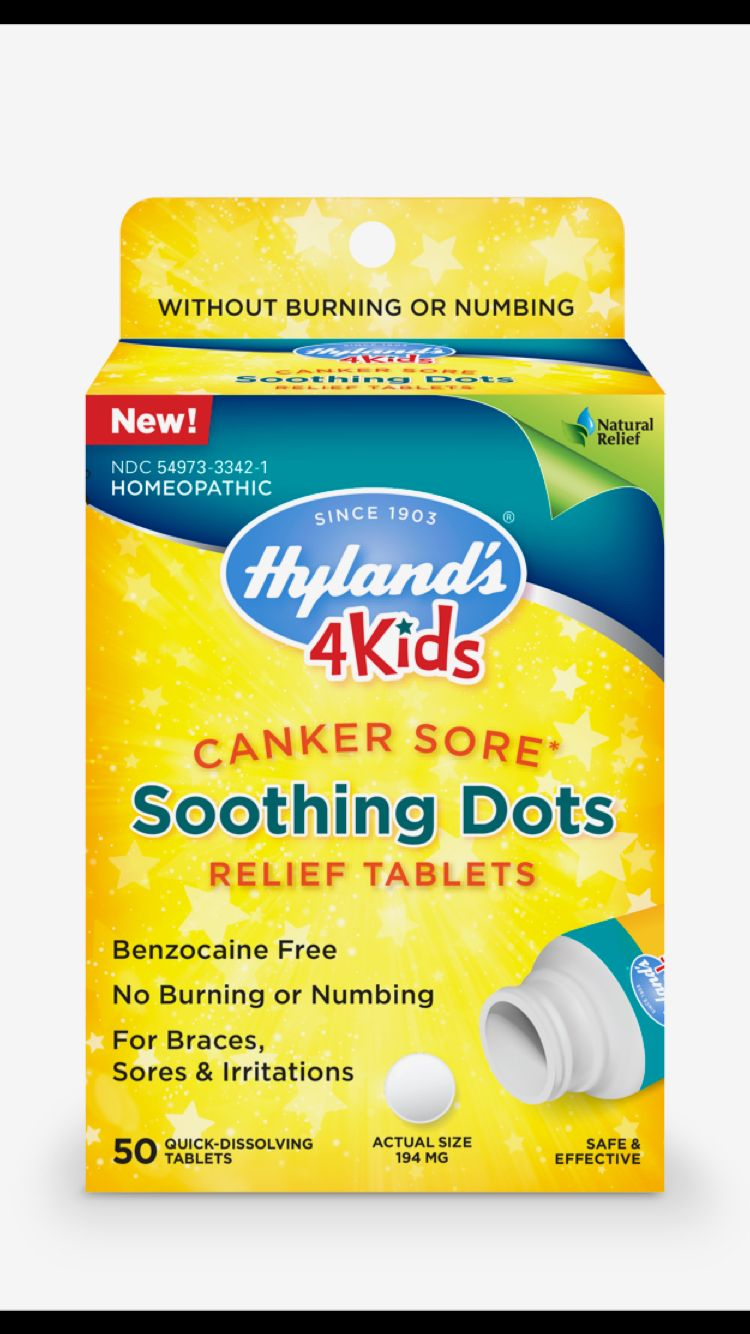 Hyland S 4 Kids Canker Sore Healing Dots Canker Sore Cankers Canker Sore Remedy