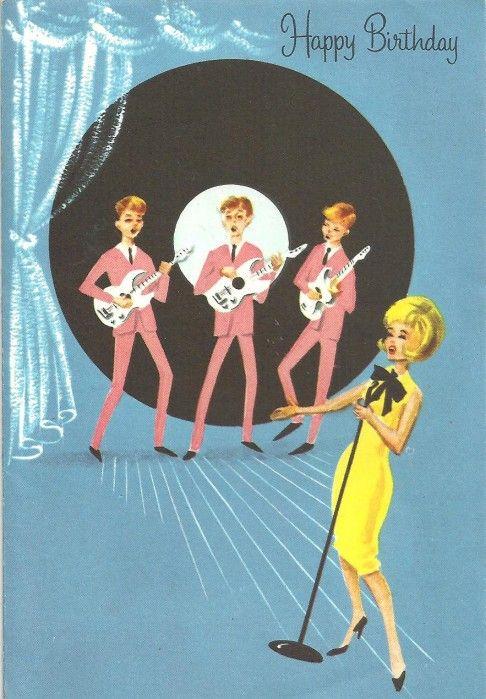 Vintage Mod Birthday Card Vintage Cards Pinterest Birthday