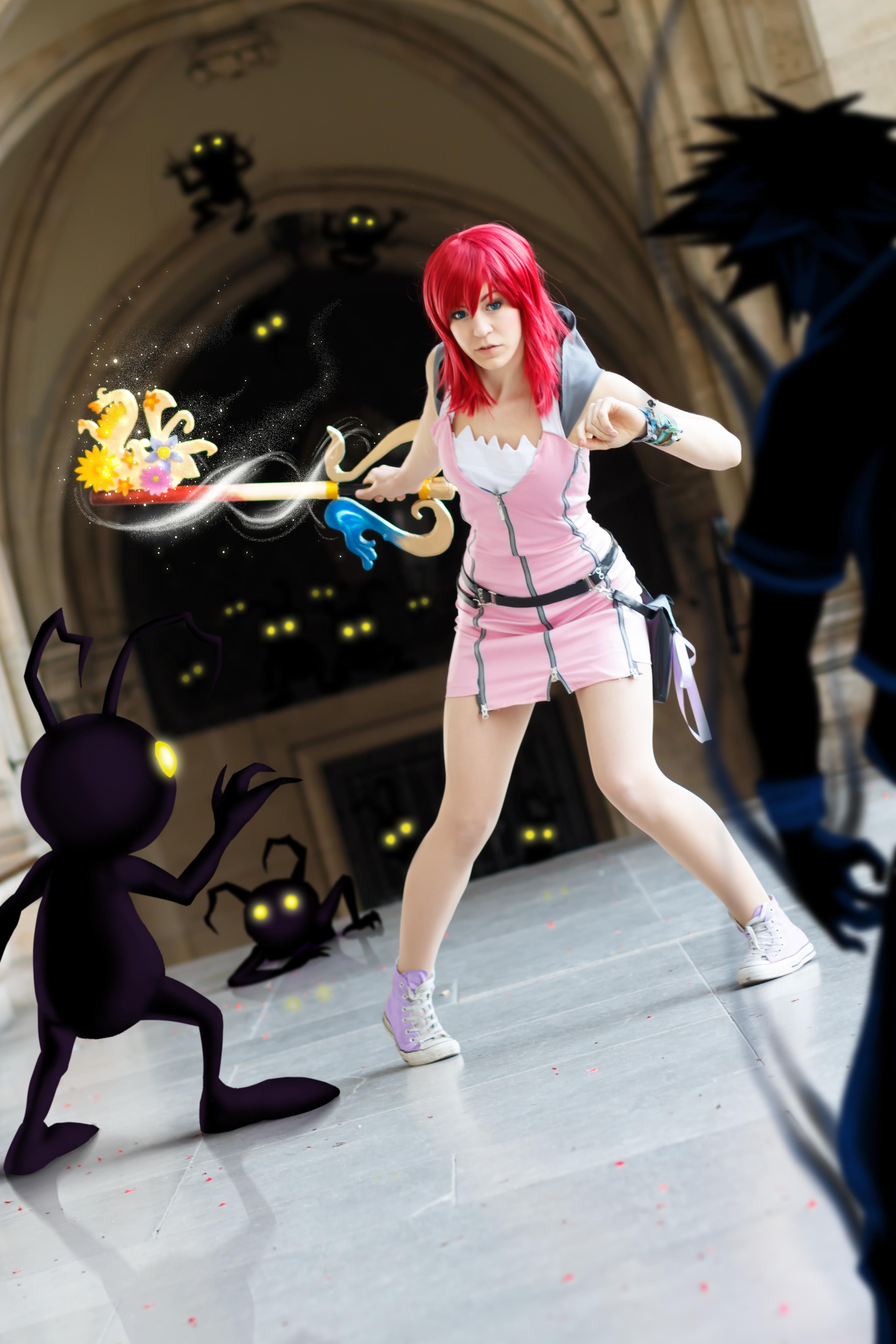 Cosplayer: Pinkie Peri Character: Kairi From: Kingdom Hearts II  Photographer: Luneko Editor: Fated 5 Country: Austria