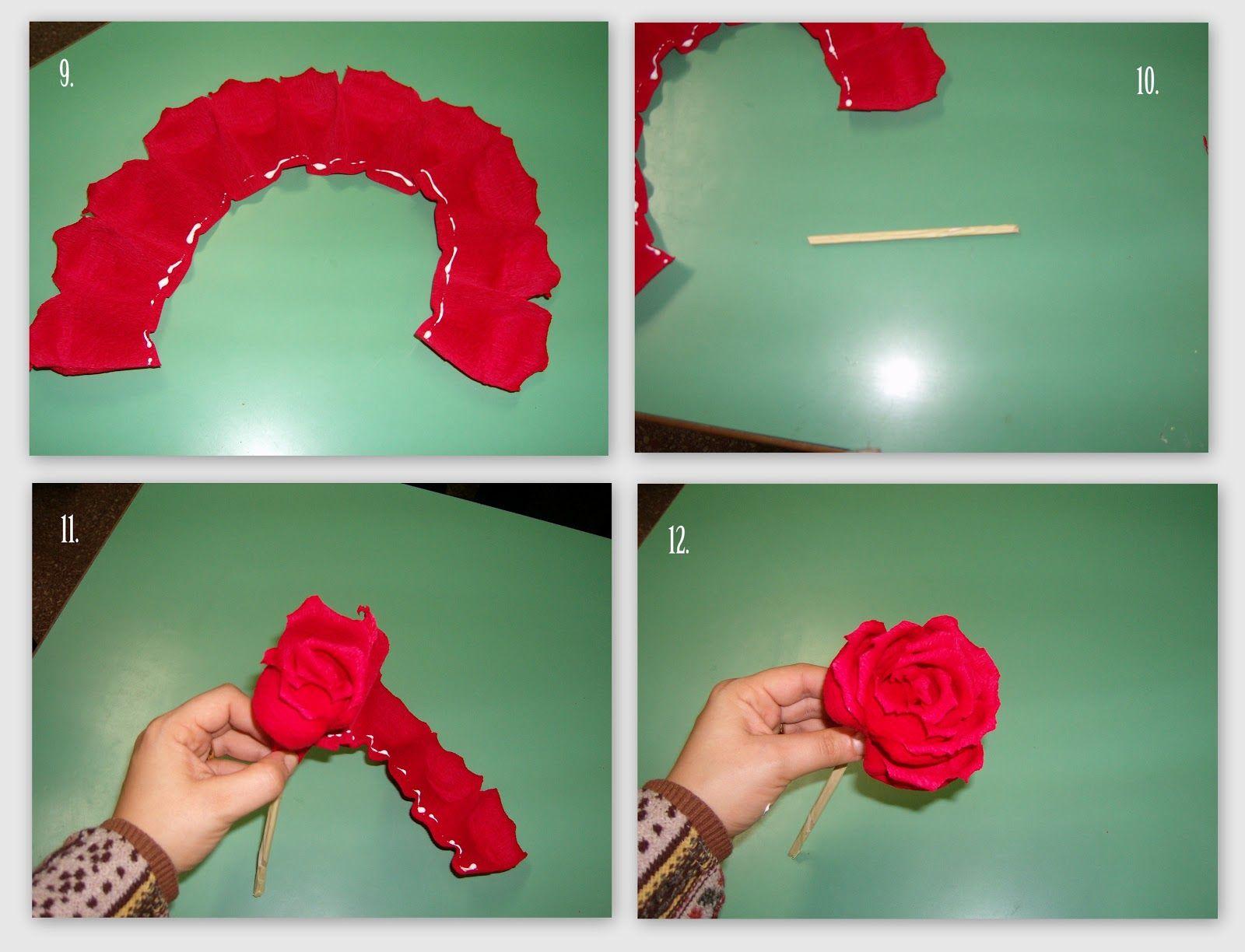 Célèbre rose di carta, rose carta crespa, tutorial rose, rose fai da te  QY41