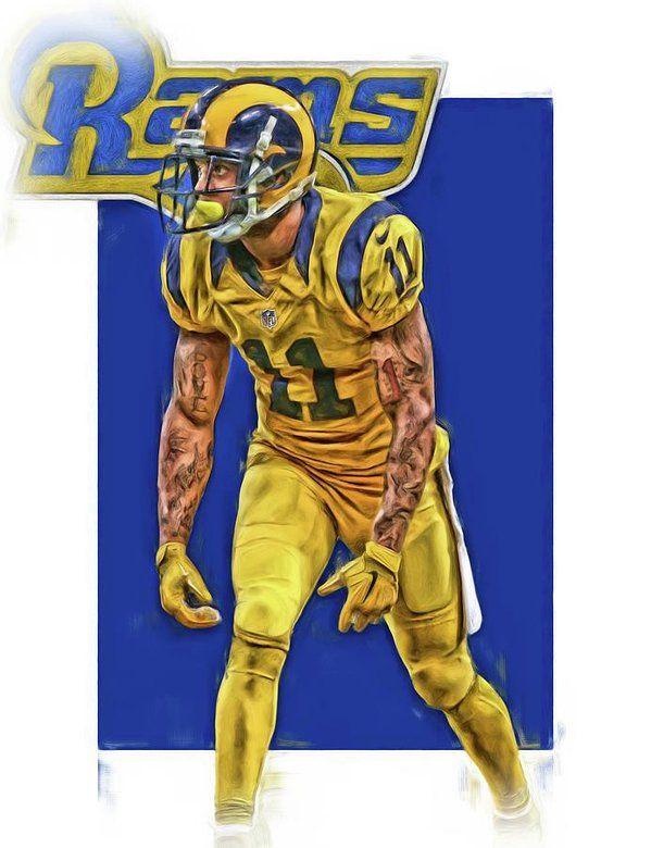 Tavon Austin Los Angeles Rams Oil Art Art Print By Joe Hamilton Nfl Football Art Los Angeles Rams Joe Hamilton
