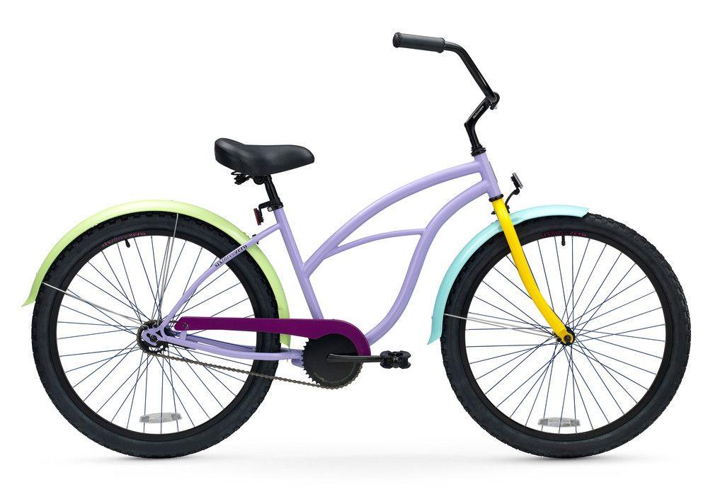 Wow Breezy Woman Single Speed Women S Beach Cruiser Bike Beach Cruiser Bikes Cruiser Bike Womens Bike