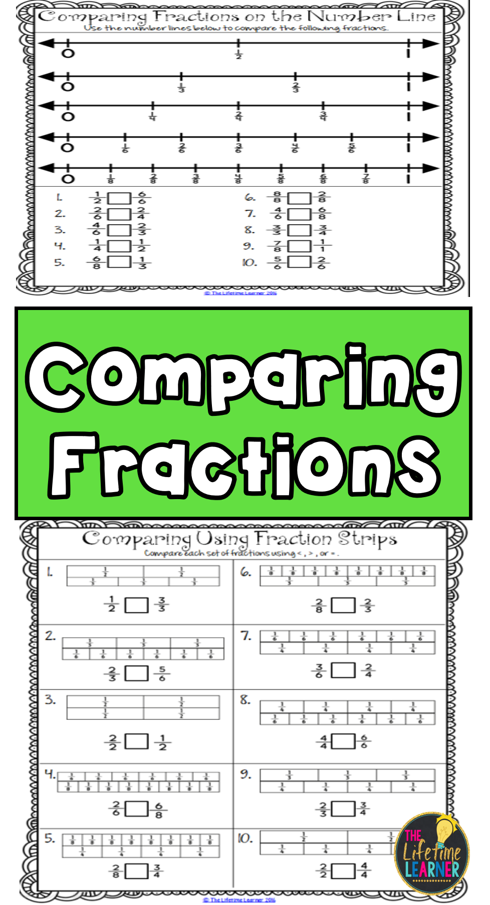 Comparing Fractions - Fraction Worksheets Activities Games ...