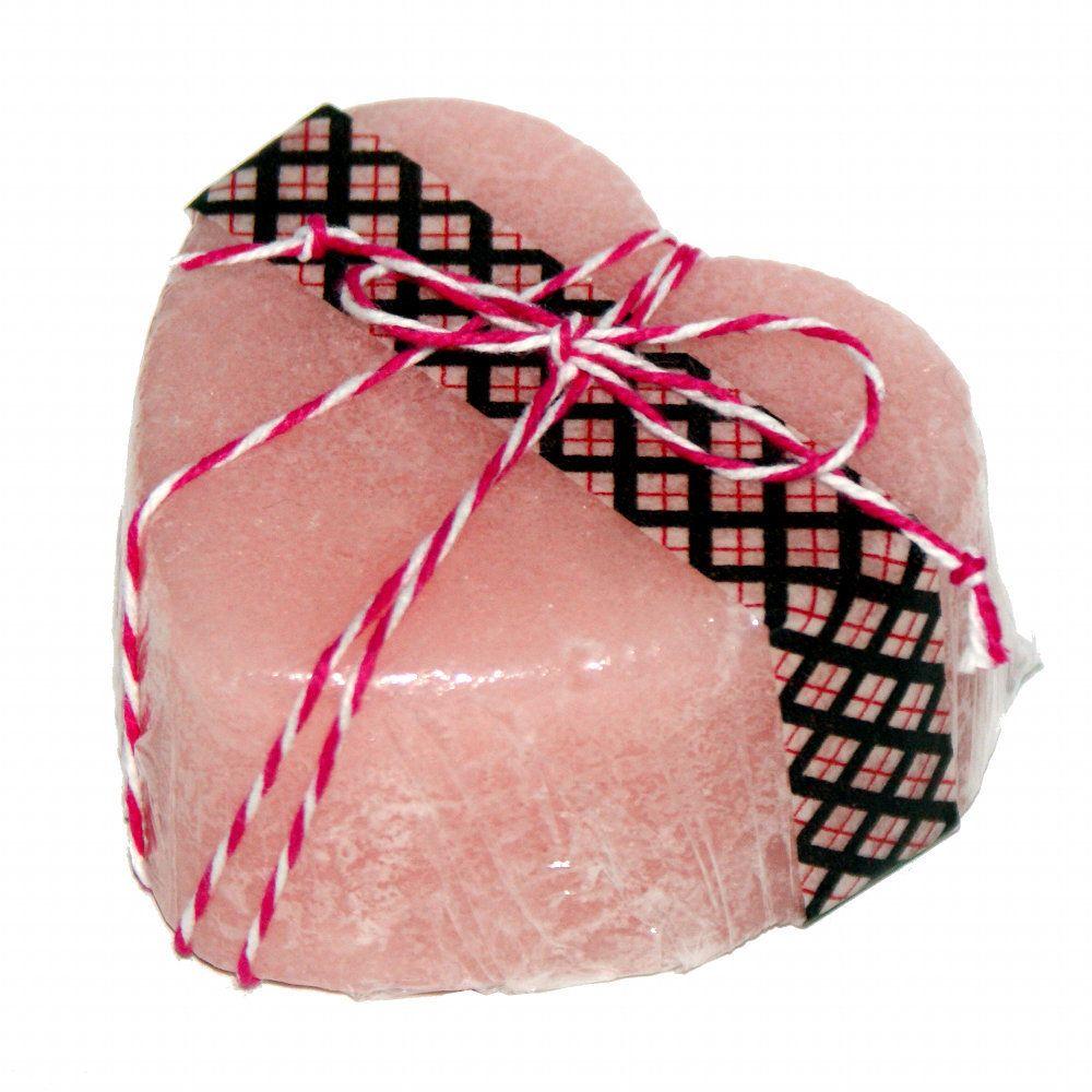 Handmade Rose & Violet Scented Triple Butter Solid Sugar Scrub Heart