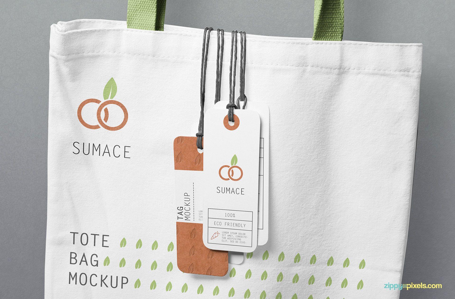 Download Free Hanging Tags Mockup Zippypixels Tote Bag Best Tote Bags Bag Mockup