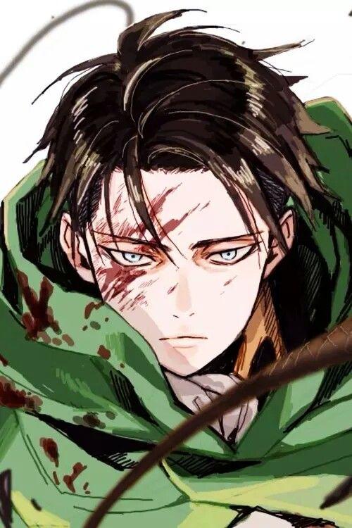 Shingeki No Kyojin Attack On Titan Levi Ackerman Rivaille Anime Boy Badass Heichou Art Gambar Anime Animasi Pemandangan Anime