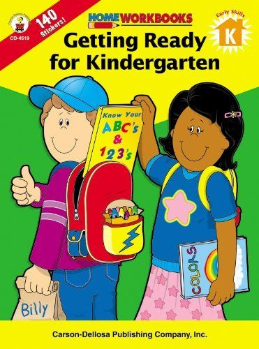 Getting Ready For Kindergarten Home Workbooks By Carson Dellosa