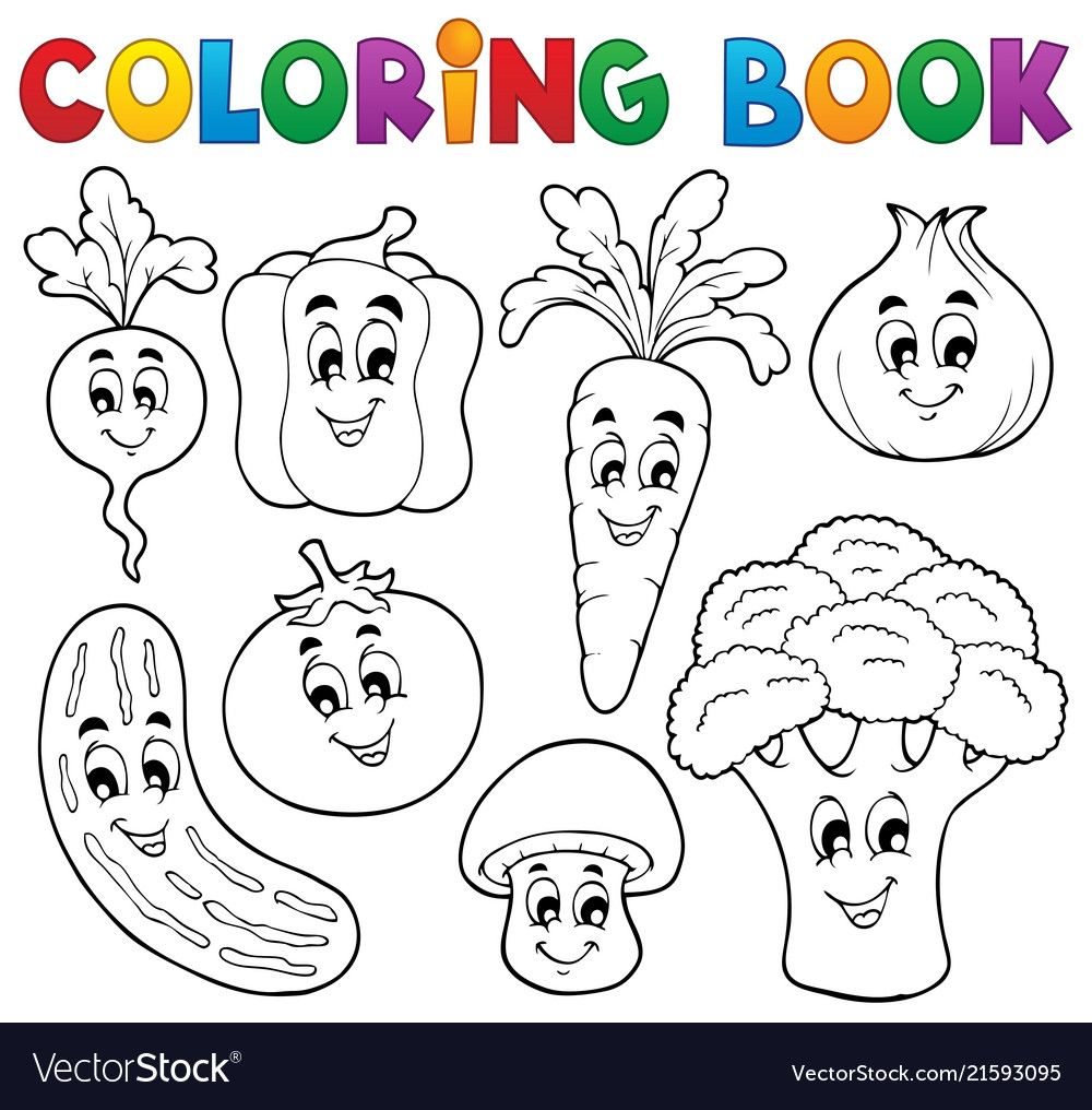 Coloring Book Vegetable Theme 1 Eps10 Vector Illustration Download A Free Preview Or High Quality Adobe Il Coloring Books Coloring Pages Coloring Book Pages