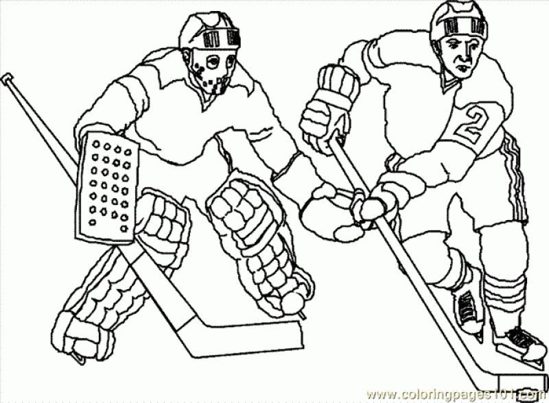 Free Hockey players coloring pages Sports Coloring Pages Pinterest - new coloring page of a hockey player