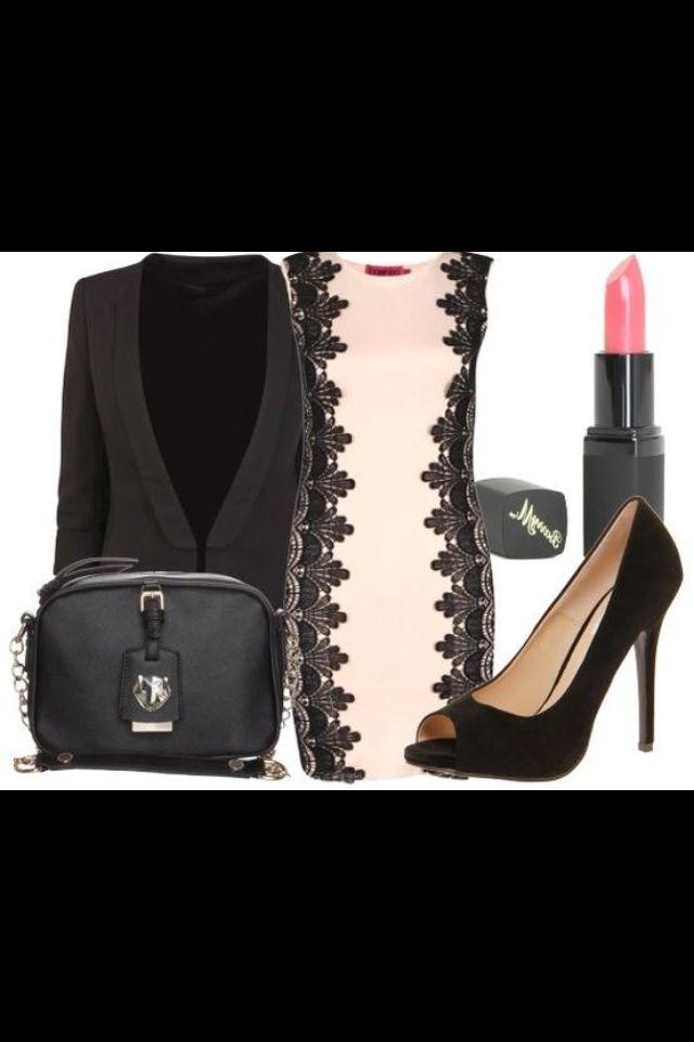 Pink dress with black prints