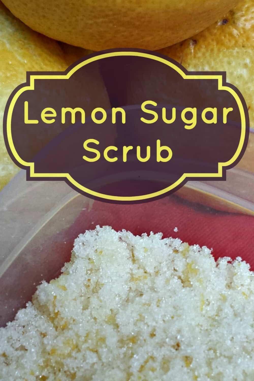 Lemon Homemade Sugar Scrub #sugarscrubrecipe