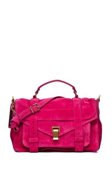Dream Bag #7 Proenza Schouler Suede  Hot Pink Bag.