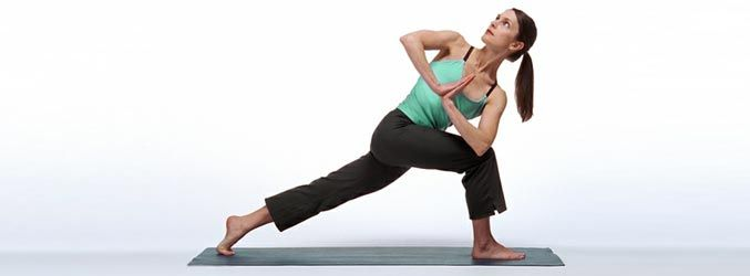 The revolved side angle pose is a challenging standing ...