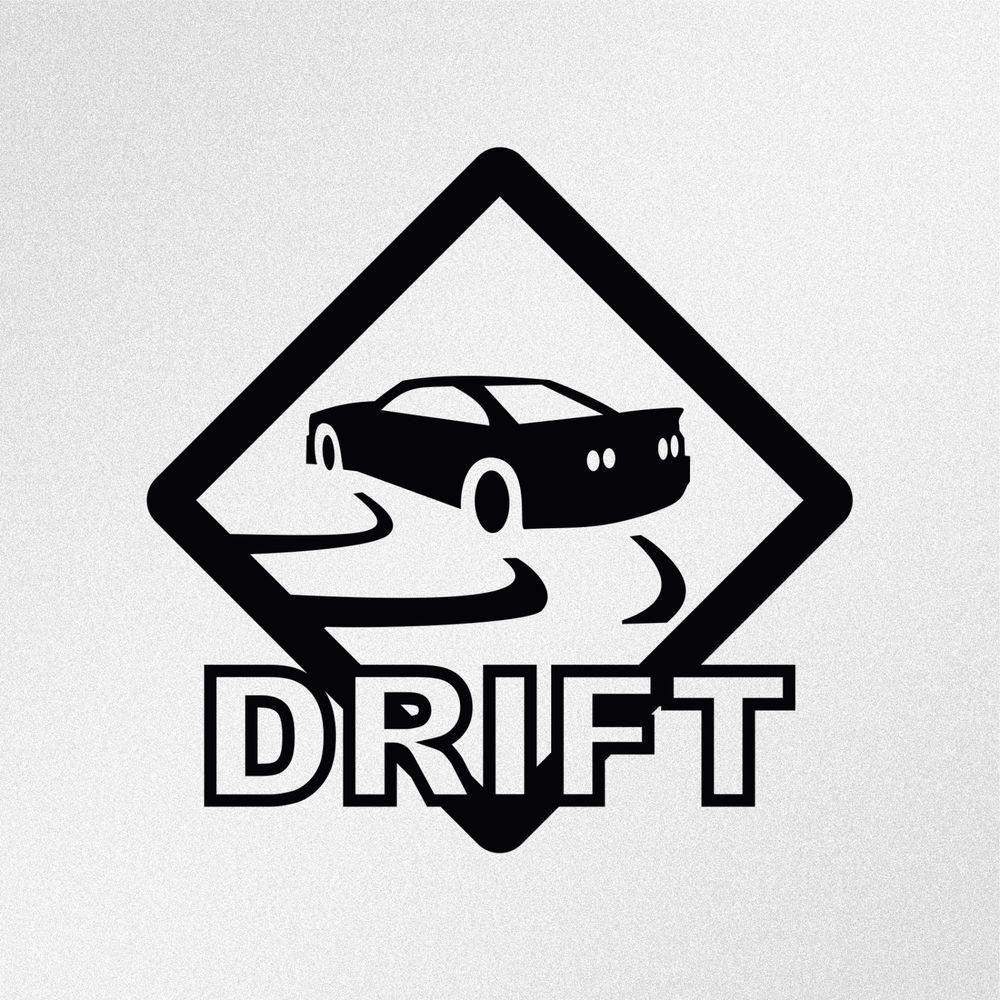 Drift Road Sign JDM Car Body Window Bumper Vinyl Decal