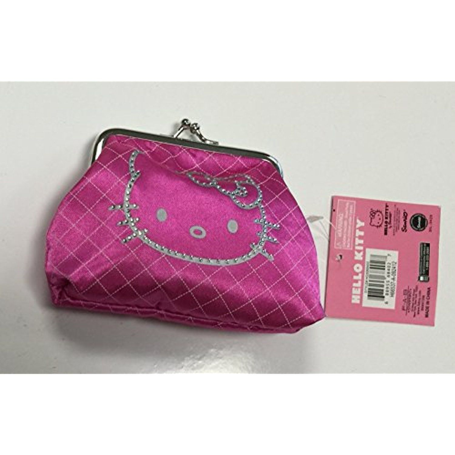 Hello kitty gift giving kisslock coin purse pink licensed