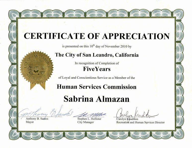 Sample Certificate Of Service Fresh Sample Certificate Recognition Years Service In 2020 Certificate Of Appreciation Certificate Templates Awards Certificates Template