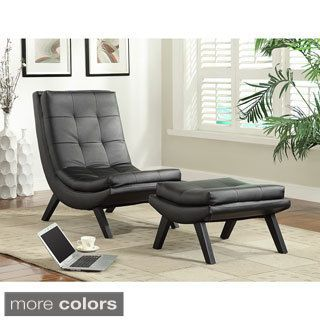Delicieux Grey Fabric Armless Swayback Lounge Chair   14336862   Overstock Shopping    Great Deals On Armen Living Living Room Chairs