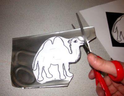 Juggling Frogs: Make your own cookie cutter from clip-art and a foil pan
