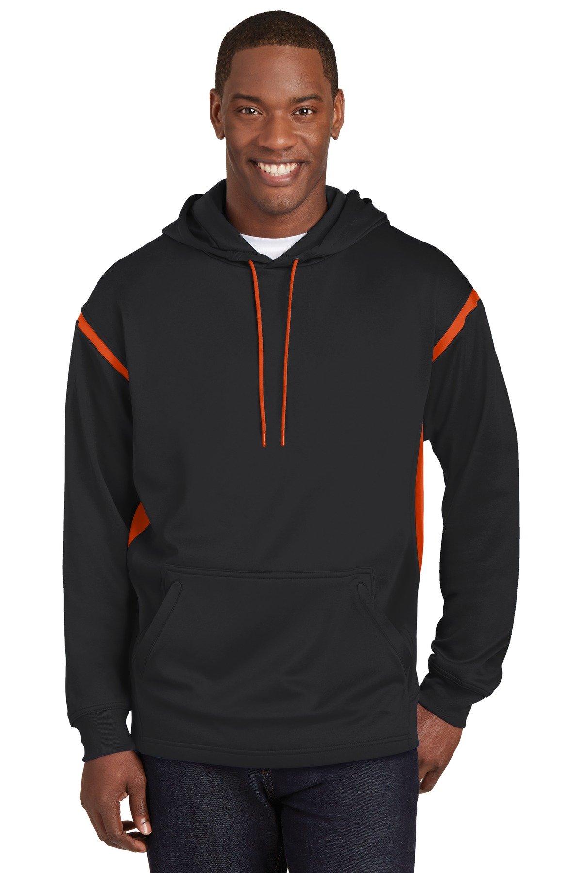SportTek Tall Tech Fleece Colorblock Hooded Sweatshirt