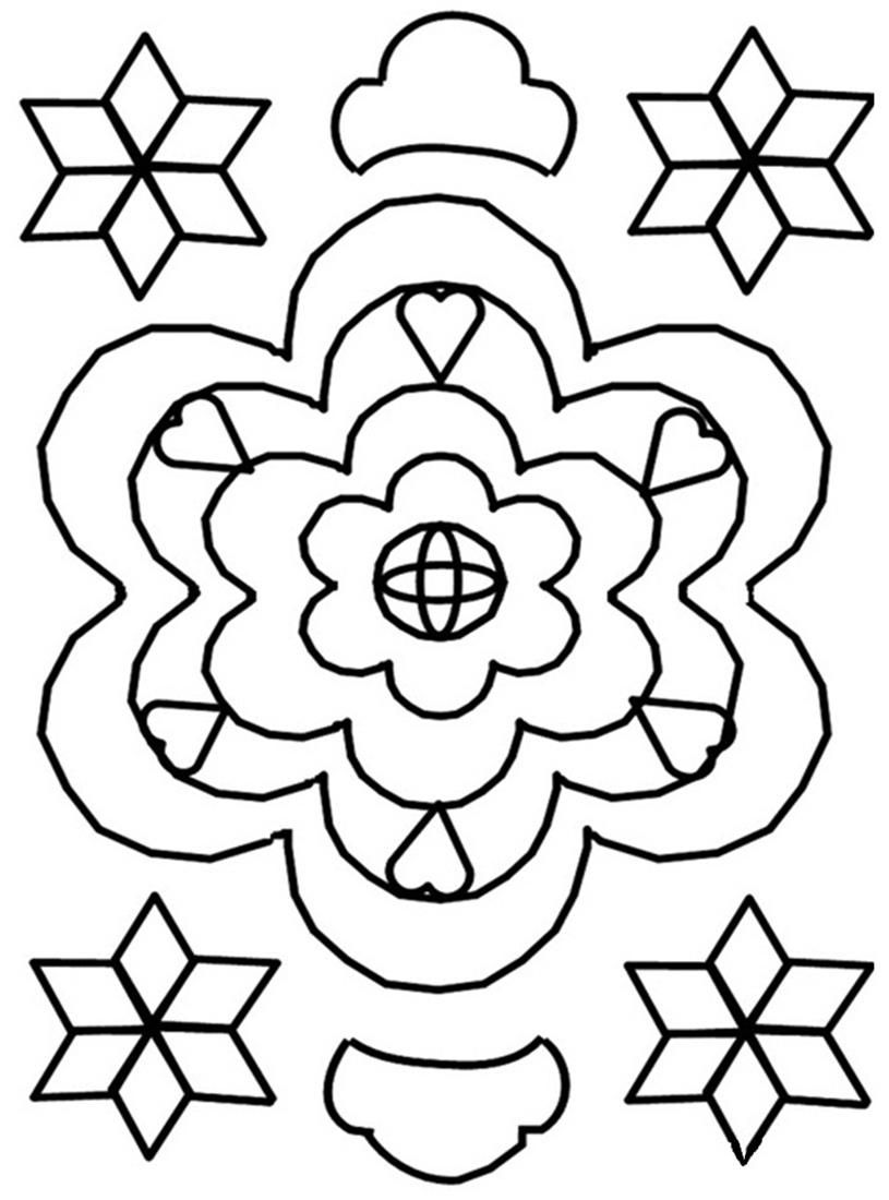 Free Printable Rangoli Coloring Pages For Kids | Manualidades ...