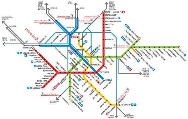 Milan Italy Subway Map