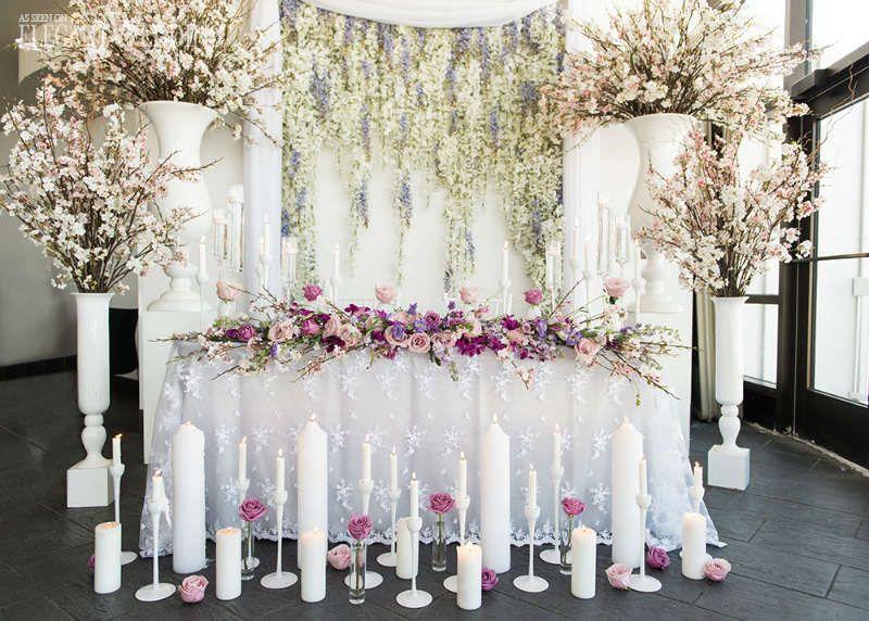 Pink And Purple Fl Spring Wedding Table Decor Elegantwedding Ca