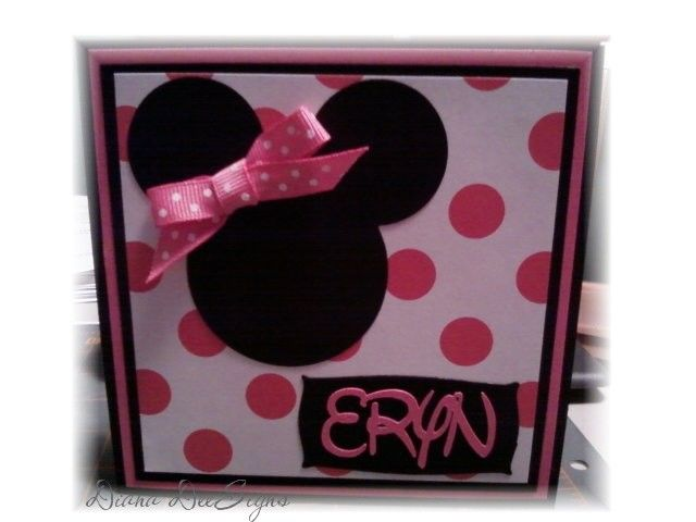 Minnie Mouse Birthday Card By Dianadee Cards And Paper Crafts At