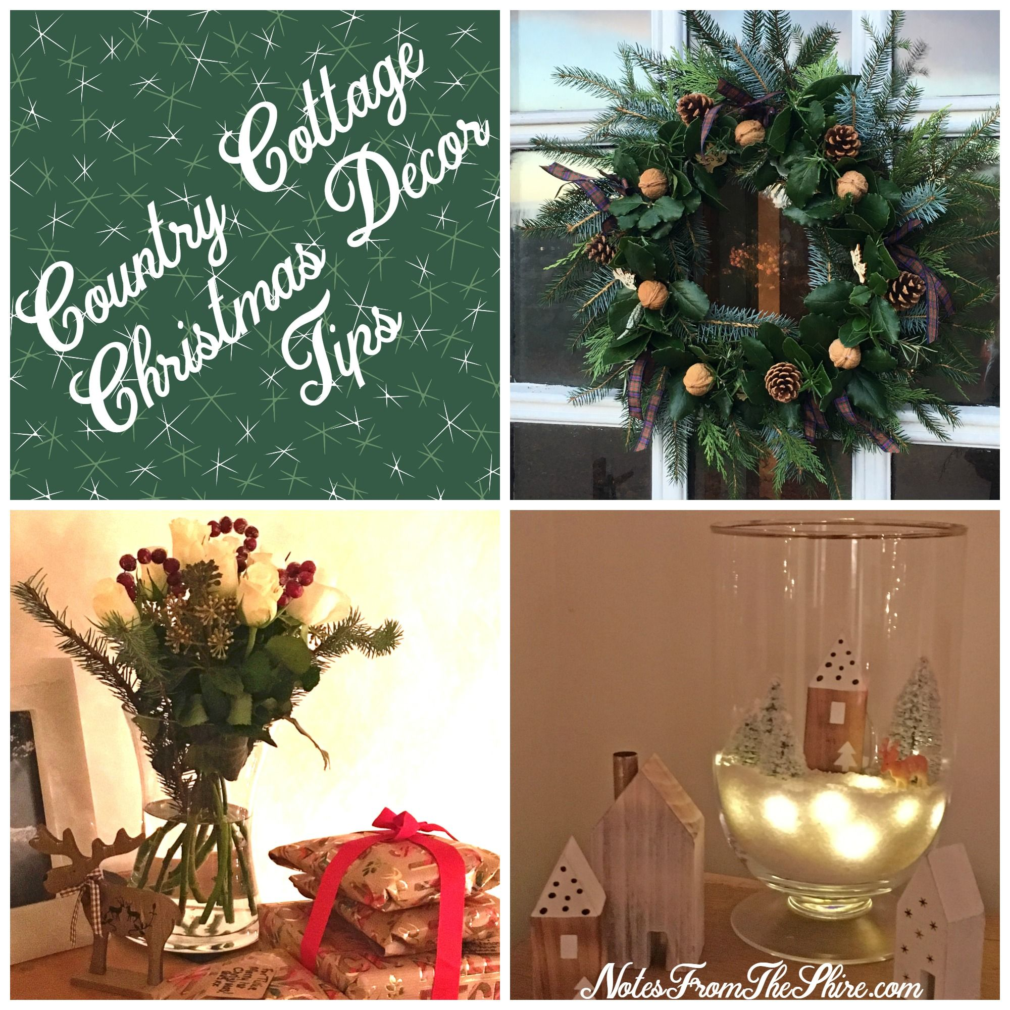 country cottage christmas decor christmas decorations pinterest