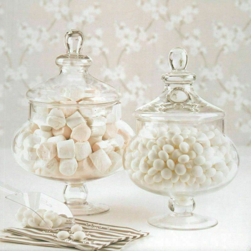Vintage Round Glass Candy Jar With A Wooden Lid