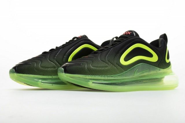 Nike Air Max 720 Black Fluorescent Green Unisex Running