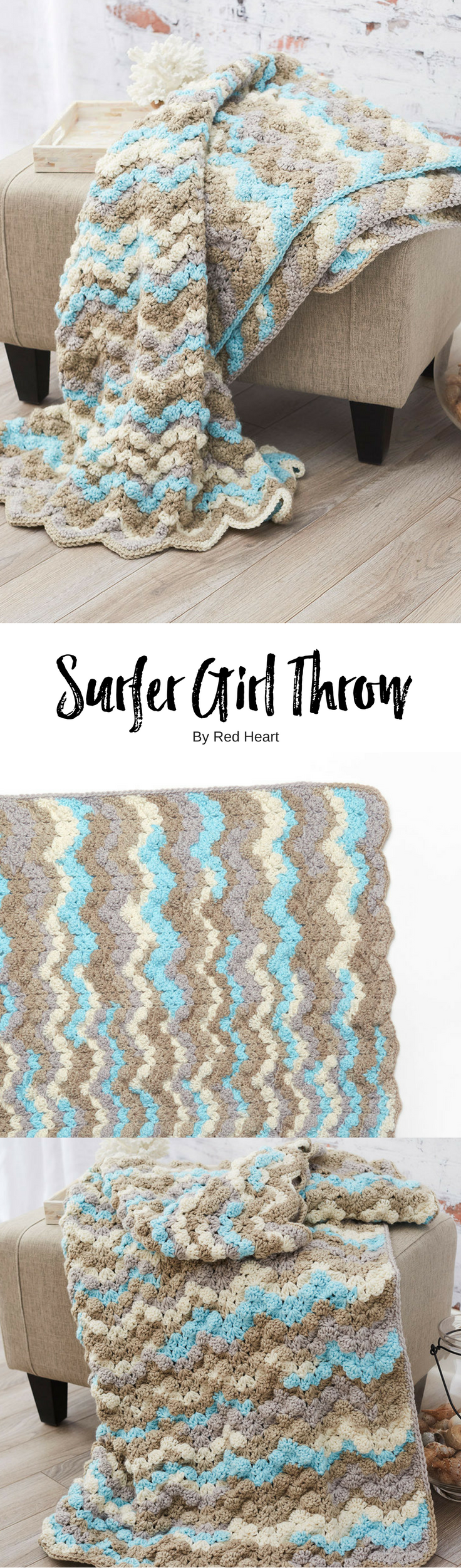 Surfer Girl Throw free crochet pattern in With Love Stripes ...