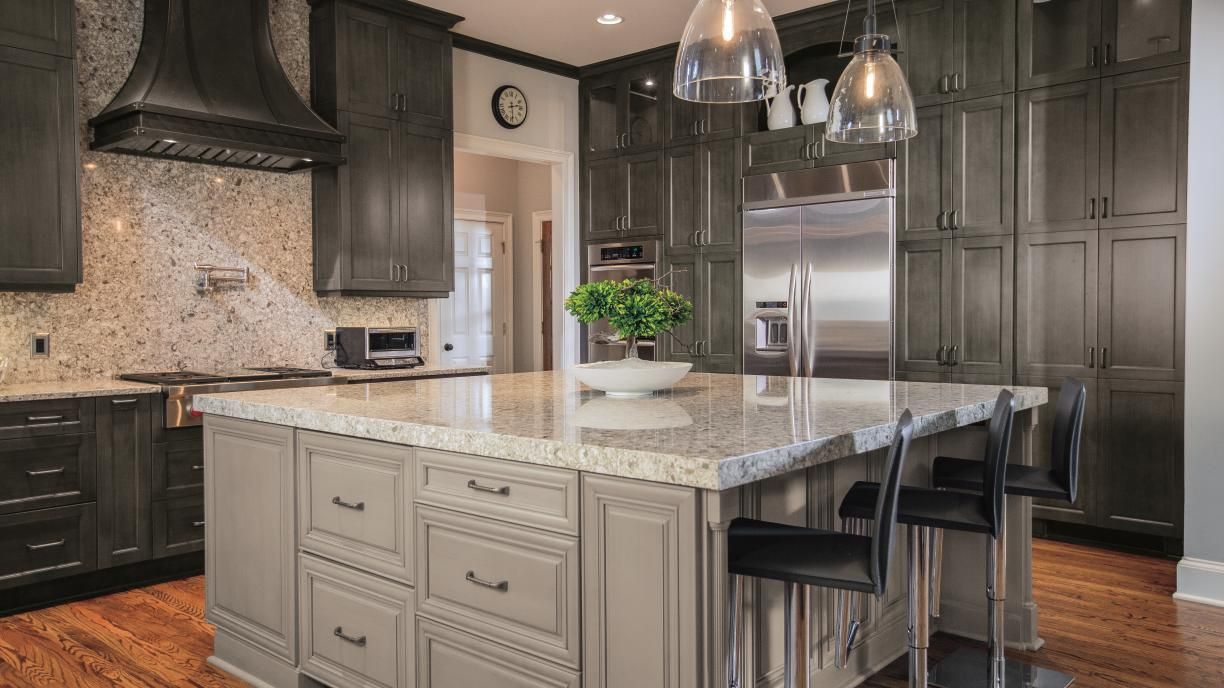 This renovated kitchen is now a central hub for