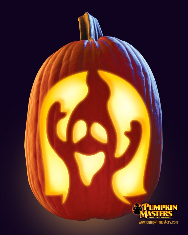 "Scary Pumpkin Carving Patterns: ""Groaning Ghost"" Pattern From The Pumpkin Masters Carving"