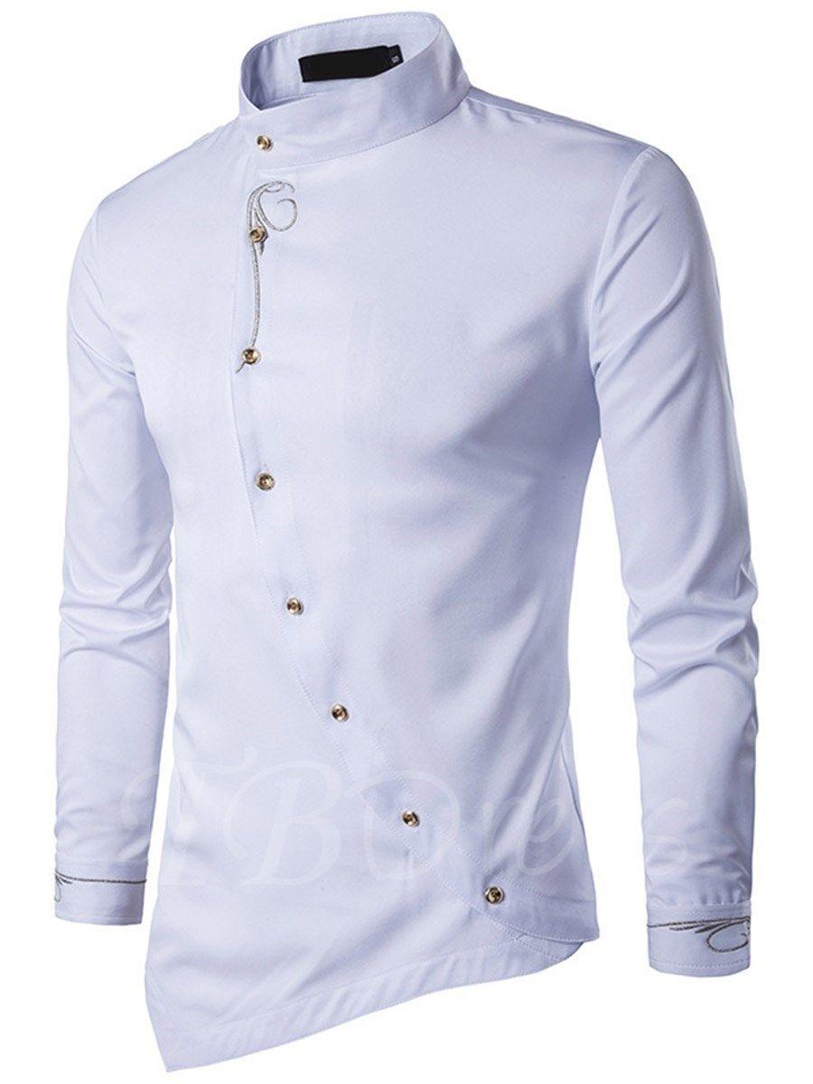 Men/'s Casual Fitness T Shirt Standing Collar Irregular Sleeveless Shirts Tops