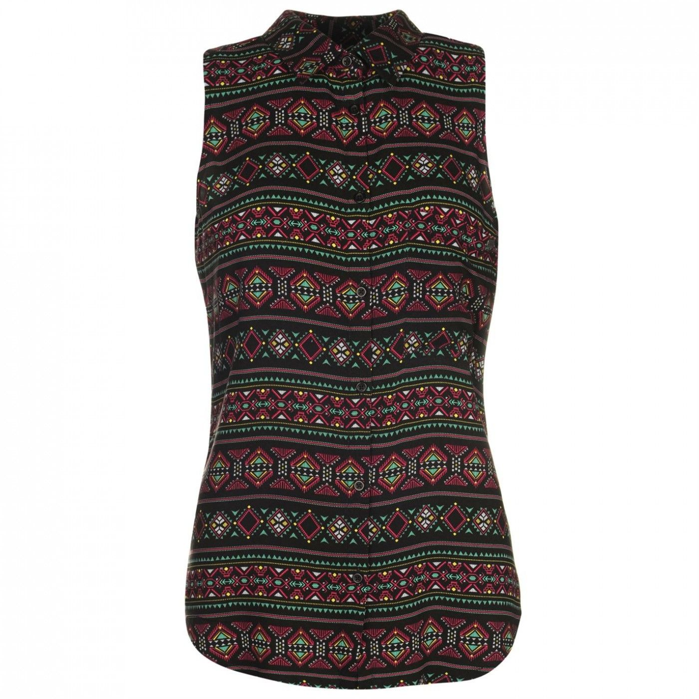 Lee Cooper - All Over Pattern Sleeveless Shirt Womens